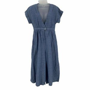 KBF One Size Jumpsuit Romper Playsuit Chambray